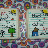 A Child's Drawing 4.5 x 6.5in sheet of paper. So cute and so fun to do. Made these for a back to school bake sale. They were a hit. Inspired by Debo44. TFL...