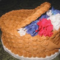 "July Basket  We had a church function this September with the theme of ""Faith, Freedom, and Liberty. I just had to try one of these basket cakes..."