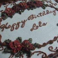 Lola ... This was a cake for a lady I've never met ... and I didn't have much direction for it ... well, that was fine with me because I...