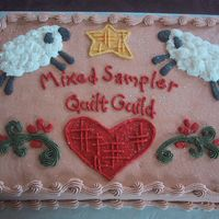 "Quilt Guild Cake Made this for the quilt show (for the ladies ""coffee time"" ... I think, that's what they were going to do with it.) Based it..."