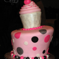 Sweet 16 Cupcake All fondant cake. Customer brought me a Pink Cake Box cake picture for inspiration. This was for a 16th Birthday. Check out my pics for...