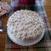Lemon And Raspberry Meringue Cake This is a meringue topped cake I made for easter. I think I did great on the Torching...