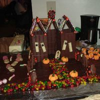 Chocolate Haunted House Just a little haunted house I did, all out of candy.