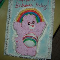Care Bear Cake This was my first character cake. I make it about 5 years ago...the colors didn't turn out so good, but its still cute I think...