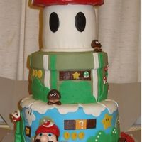 Super Mario Brothers  my version of the super mario cake. =) got the inspiration from all the pictures ive seen on here so all the credit goes out to all of you...