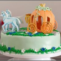 Cinderellas Carriage   MMF and Royal Icing (the grass).