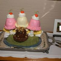 Groom's Ice Cream Sundae Or Banana Split I did this cake (completely of cake and icing) with no use of ice cream any where! Everyone went crazy over it at the reception. Ignore the...