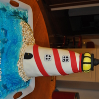 The Lighthouse Birthday Cake  Had been promising my sister-in-law a birthday cake for quite some time and since she LOVES lighthouses (like me), thought what better time...