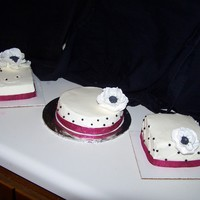 Mother's Day Cakes 2010 I wanted to practice making gumpaste flowers, so I made these anemone flowers and made three small cakes to put them on. Sold them to some...