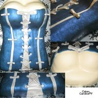 Blue Bridal Shower Corset Top Bustier Cleavage