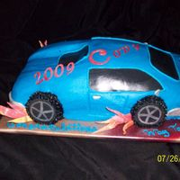 18Th Birthday Car This was for my grandsons 18th birthday. He got what he wanted, just couldn't drive it! Made with buttercream & fondant accents....