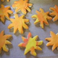 Suns In Marbled Chocopan Fondant   N.F.S.C. covered in marbled colors of chocopan white chocolate fondant.