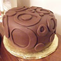 Pi Day Cake 08  2nd pi day cake for my daughter's school. Darn good chocolate cake off cc filled and iced with vanilla-caramel butter cream and then...
