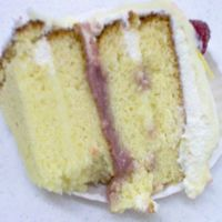 Inside Of The Lemon Raspberry Cake thought I would share a picture of the inside of the cake...