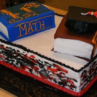 Backview Of Grad Cake Backview of grad cake grad colors were red/black. thanks for looking!