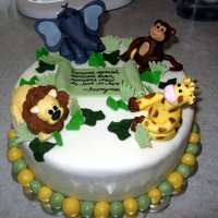 Zoo Baby Shower  French vanilla cake with Oreo mousse filling. All MMF decorations. This was my favorite cake I've done so far! I LOVE how the elephant...