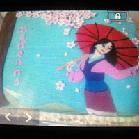 Mulan  Forgot to replace my camera memory card before taking the picture, so I had to take a pic of the cake with my phone, and then a pic of my...