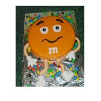 M & M Cake Inspired by some that I have seen on CC. Thanks for the inspiration.Fondant covered with candy m&m's.TFL