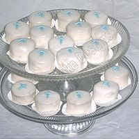 1St Communion Petit Fours For A Boy   1st communion petit fours for a client.TFL