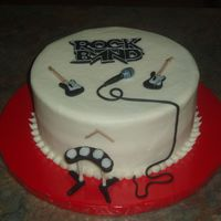 Rock Band This was for a rock band party. Buttercream with fondant decorations.