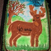 Deer Transfert   it was made with buttercream icing and sale. image transfert.