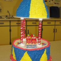 Mary Go Round  it was made with buttercream icing and the clowns to. it as for the school of my little boy circus show. they were all surprise to see a...