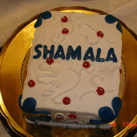 Cake For Sham this was a cake made for my sister-in-law who has come to visit us for a few weeks. we surprised her with the cake when she woke up - she...
