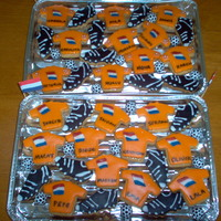 Soccer Jersey Cookies after holland won their match in the quarter finals for the world cup, i was quite inspired to make these biscuits for my son's class...