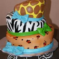 Animal Print Baby Shower This cake was done for a baby shower. I like the way it turned out.