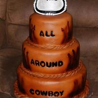 """leather"" Cake This was done to match a little boys saddle. =)"