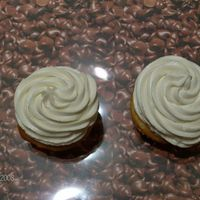 Orange Cupcake W/ French Vanilla Mock Bettercreme ORANGE FLAVORED CUPCAKE WITH FRENCH VANILLA MOCK BETTERCREME.
