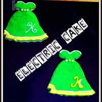Dress Cookies NFSC/Antonia's Icing. Dress cookies I made for my DS's teachers birthday. I used her first initial. They were a suprise because...