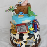 Toy Story Cake Toy Story birthday cake. B/C icing, with fondant accents and toy story figurines.
