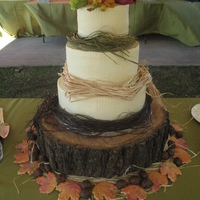 Fall Wedding I did this cake for an outdoor wedding held the day after Thanksgiving. The cake flavors are carrot cake with a cream cheese filling and a...