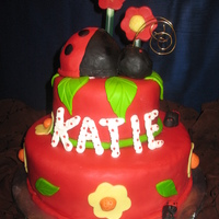 Lady Bug This cake was covered in rolled fondant.