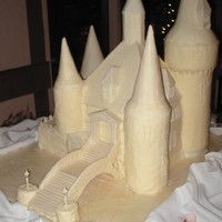 Castle Cake this actually a wedding cake. The couple got married at a castle. The cake is the same castle image used on their invits. This thing is...