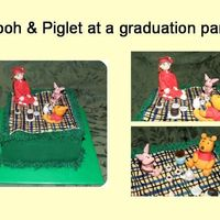Pooh Lover's Graduation Cake Made for a young lady graduating from high school who absolutely loves winnie the pooh. Buttercream cake. All details made from fondant...