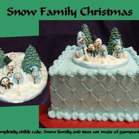Snow Family Christmas This cake topper was made using Aine2's tutorial. Thank you Aine2. I have never been happier with a cake. I just fell in love with...