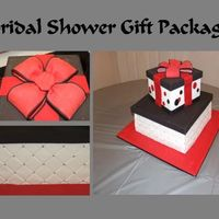 Gift Package Bridal Shower Cake This was for a bride-to-be friend whose colors are red, black and silver. This would have been totally impossible if not for the incredibly...
