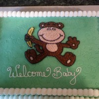 Monkey Business   1/4 sheet cake done in BC