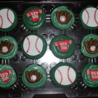 "Baseball Birthday Cupcakes Thiese are gluten-free, soy-free cupcakes for the birthday boy to take to school. The little boy's little league team is the""Red..."