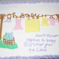 "Alyson's Babyshower This was a gluten free cake,tasted wonderful she thought it was ""real cake"". Got the idea for many of you on CC sorry I don'..."