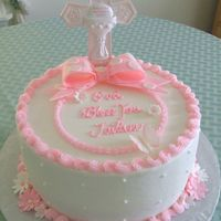 "Jailiene's First Communion  First of all, thank you to ""sweet_as_tisse"" for posting her beautiful communion cake that I used for inspiration.Jailiene's..."