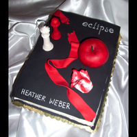 Eclipse Book Cake I looked at several Twilight cakes here on CC and got my inspiration. I decided to make this one an Eclipse book since the movie is about...