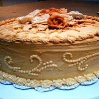 3Rd. And Final Cake Of Wilton's Cake Class 1 This is a Spice Cake with Cinnamon Buttercream Frosting.