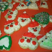 "Santa Claus Cookies Sorry for the "" not so clean "" backdrop of these cookies, but I didn't think I would ever share these on the web. But, I..."