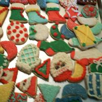 Christmas Cookies My mom, sister and I have decorated Christmas cookies every year for over 18 yrs. Hope you like them. Sorry for the fuzzy picture.