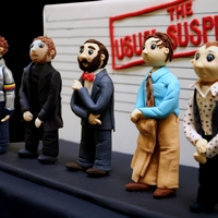 Usual Suspects Cake The Usual Suspects line-up reproduced in cake! I made all the figurines by hand using fondant mixed with tylose and aine2's tutorials...