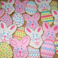 Easter Bunny And Egg Cookies I make these cookies every year!