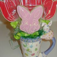 Easter Cookie Bouquet The Easter mug came from Hobby Lobby!